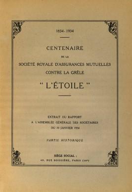 1834-1934-Visuel centenaire de L'Etoile