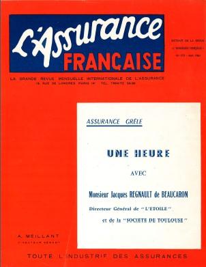 1961-Visuel l'assurance francaise-Une heure avec J de Beaucaron