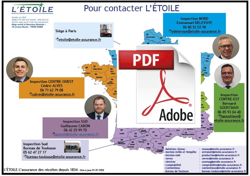Contacts régionaux L'Etoile